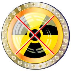 glanzbutton - gegen atomkraft