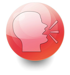 """Red Shiny Orb Button """"Talking Head / Forum / Discussion"""""""
