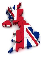 3D Map of United Kingdom
