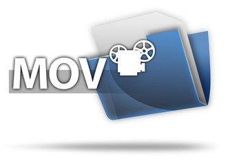 "3D Style Folder Icon ""MOV"""