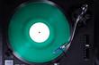 Analoge Musik vom Plattenspieler, grün