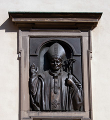 Sculpture of Pope John Paul II in Lviv, Ukraine