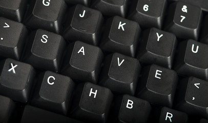 The word save written on a keyboard