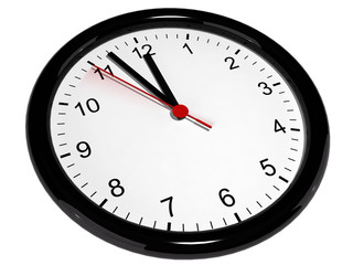 Clock face seconds ticking