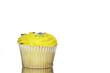 Single yellow cupcake