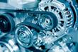 Leinwanddruck Bild - Car engine