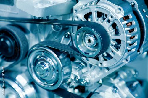 Leinwanddruck Bild Car engine