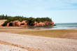 Famous sandstone sea caves in St Martins, New Brunswick