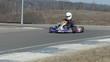 go-kart on race turn