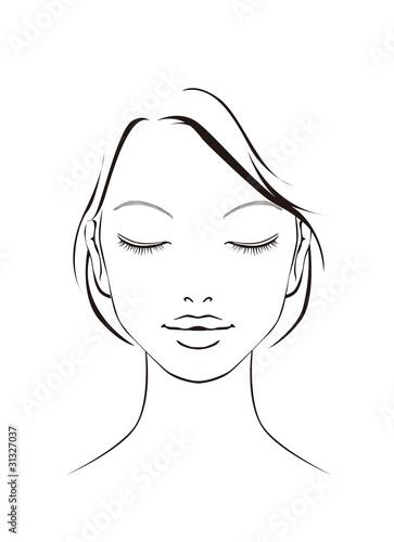 女性 の 顔