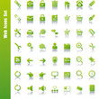 Web green icons set