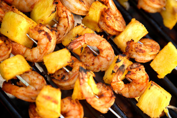 Pineapple Shrimp on the Barbeque