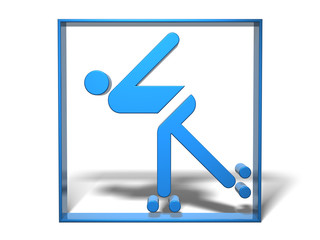 Sport Piktogramm Rollschuhlaufen