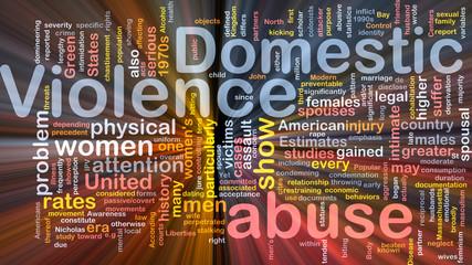 Domestic violence concept diagram glowing