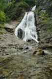 Beautiful waterfall in Transylvania, Romania poster