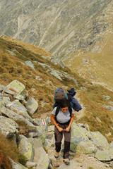 Trekking in Parang mountains, Southern Carpathians, Romania