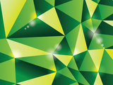 3d polygon triangle abstract background - illustration poster