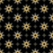 vector black seamless texture with golden elements