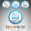 Set of sale round stickers