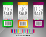 set of color vector sale tickets