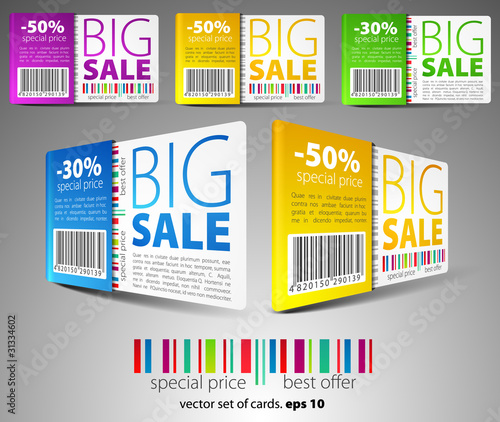 color vector sale cards