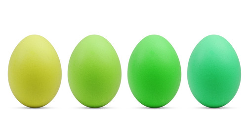 grüne Ostereier