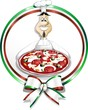 Pizzaiolo Italia Stemma Coccarda Tricolore-Italy Cook with Pizza