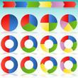 Colorful Round Arrow Process Icon Slide