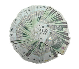Background made from 100 polish zloty , financial background