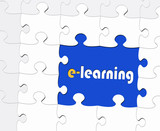 e-learning - Business and Education Concept poster