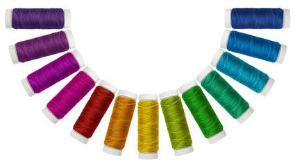 Spagnolette di filo multicolore in semicerchio