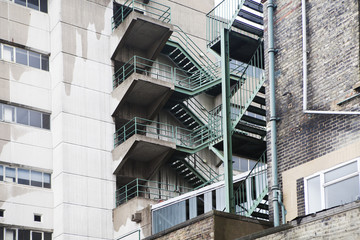 Multistory fire escape