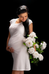 pregnant with roses