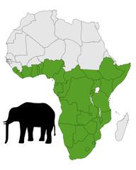 Afrikanischer Elefant Verbreitung