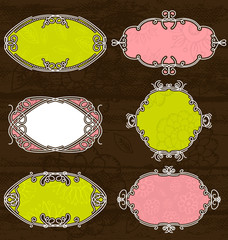 decorative labels,vector