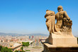 Barcelona and its skyline from Montjuich, Spain