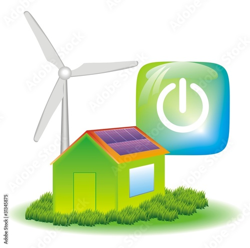 vector of green power house