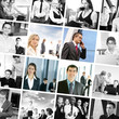 A collage of business images with young and successful people