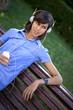 fille, femme, jeune, musique, audio, balladeur, MP3, détente
