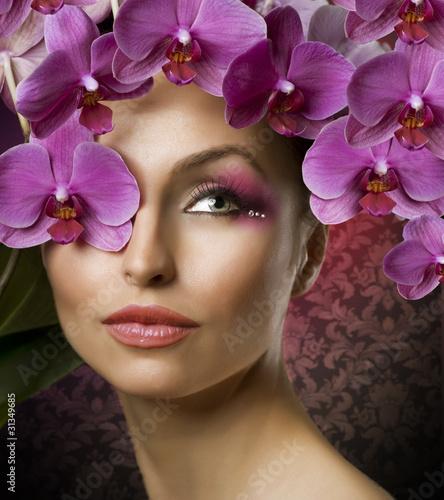 Fototapeten,schön,frühling,mädchen,orchidee