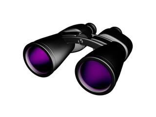Бинокль с фиолетовыми линзами