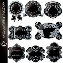 Silver and black frames set