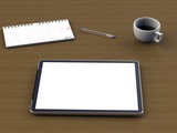workspace desktop tablet pc poster