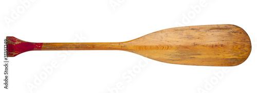 old canoe paddle