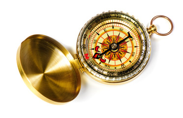 old fshioned magnetic compass