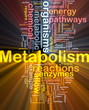Metabolism metabolic background concept glowing