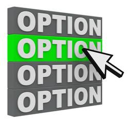 Auswahl Option 2