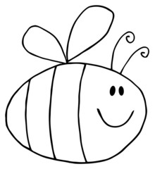 Flying Bee Cartoon Character