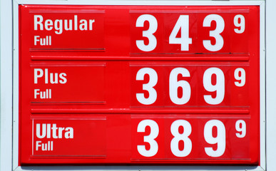 High Gas prices signs