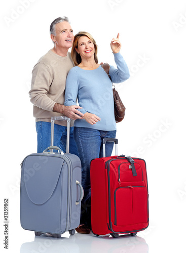 Senior couple travelers